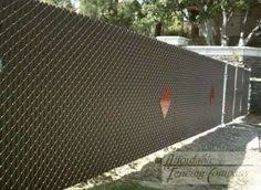 Simple Chain Link Fence Slats With Aluminum Intended Design
