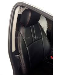 toyota vitz seat covers black with red stitching sehgalmotors pk