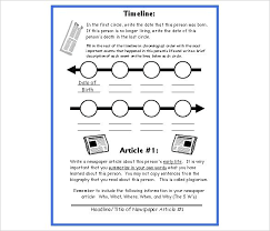 Blank Timeline Template For Free Biography – Dyppedukop.info