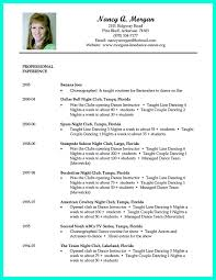 Dancer Resume Samples Experience Pictures Dance Template Fashionable