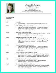 Sample Dance Resume dance resume samples Doritmercatodosco 2