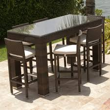 gas patio table. unique outdoor bar height chairs table foscoin with regard to decor 7 gas patio n