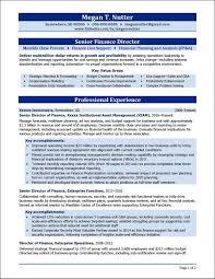 Director Sample Resume Senior Finance Director Resume Example Distinctive Documents