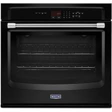 30 black electric single wall oven precision cooking system stainless handle maytag mew7530de