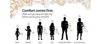 Kmart Jeans Size Chart Costume Size Chart Kmart