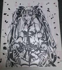 桜ミクさん ステッカー 蒔絵 さんのイラスト ニコニコ静画