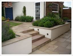 patio garden design sloped garden
