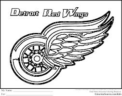 Red Wings Hockey Coloring Pages Tagged With Detroit Tigers