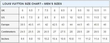 Louis Vuitton Pants Size Chart Louis Vuitton Size Chart In 2019 Louis Vuitton Shoe Size