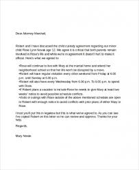 Child Custody Letter Template Photography Gallery Sites With Child