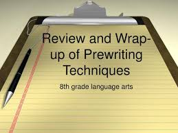 Prewriting Techniques Ppt Review And Wrap Up Of Prewriting Techniques Powerpoint