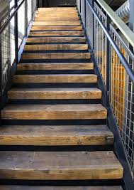 Reclaimed Millwork. Stair Treads from Factory Timbers