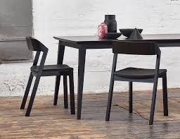 merano black stained beechwood dining chair with black pad by alex gufler for