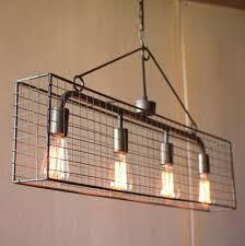 over the table lighting. kalalou four bulb wire mesh horizontal pendant light over the table lighting e