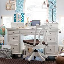 Delightful Teen Bedroom Desks : Study Room Design For Teenage Using White Desk And  Swivel White Painted