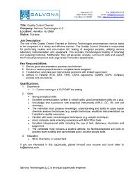 Qc Chemist Jobs Resume Latest Qa Company Profile Sample For Business