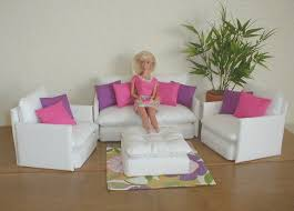 barbie furniture patterns. Barbie Furniture | Diy Living Room Set WHITE With Jazie . Patterns T