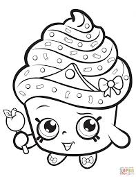Coloring Pages Cupcake Queen Shopkin Coloring Page Free Printable