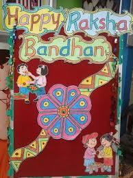 Chart On Raksha Bandhan Happy Rakshabandhan School Board Decoration Happy