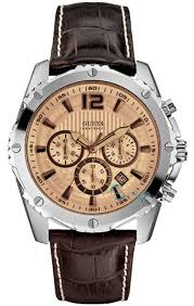 men s watch guess brown leather chronograph w0166g2 e oro gr men s watch guess brown leather chronograph w0166g2 e oro gr guess watches