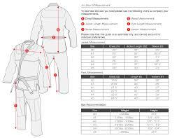 Atama Size Chart What Size Gi Am I How To Use Jiu Jitsu Gi Size Charts