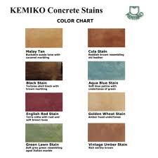 Kemiko Color Chart Concrete Acid Staining Champlin Mn Aurora Asphalt Concrete