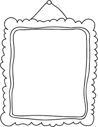 love picture frame coloring page printable frames templates your