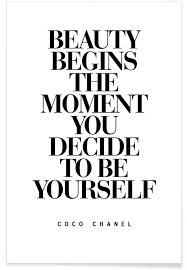 Chanel Beauty Quotes Best of Beauty Begins Als Premium Poster Von THE MOTIVATED TYPE JUNIQE