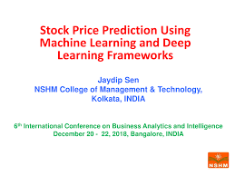 Stock Chart Prediction Pdf Stock Price Prediction Using Machine Learning And Deep
