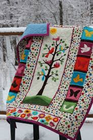 122 best q - tree of Life images on Pinterest | Contemporary ... & Beautiful Crib Quilt // Flannel // Tree of Life Adamdwight.com