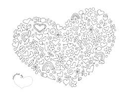 Heart Coloring Pagepdf Digital Stamps Coloring Pages Adult