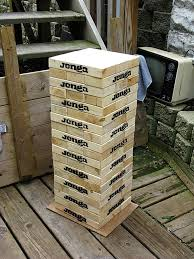 Game Played With Wooden Blocks Giant wooden Block Stacking Game Tower Stack game Wooden 53