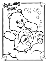 Care Bears Coloring Page Care Bearsfree