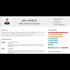 Online Resume Website Magnificent Pro HTML Resume