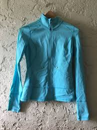Light Workout Jacket Womens Zella Activewear Sports Light Blue Workout Thumb Hole