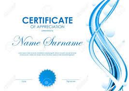 Certificate Of Appreciation Template With Blue Futuristic Dynamic
