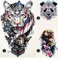 3d Hot Design Temporary Tattoo For Adults Waterproof Tatoo Sticker Animal Totem Arm Tattoo Body Art Tribal Cool Bear Beast Kingtemporary Tattoo Indian