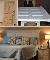 10 repurpose an old door into a bed