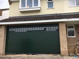 seceuroglide roller garage door with vision slats
