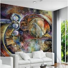 beibehang custom large scale murals do old metal texture dynamic circle ktv abstract oil painting