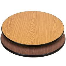 30 laminated round table top reversible walnut oak image preview main picture