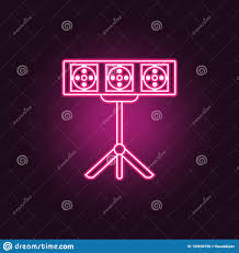 Spotlight Graphic Design Spotlight Icon Elements Of Spotlight Stage In Neon Style