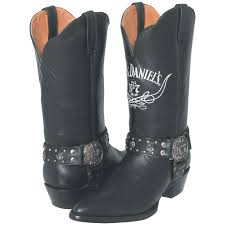 women s jack daniels 12 western biker boots double tap to zoom