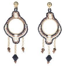 azuni bonita small chandelier earrings black