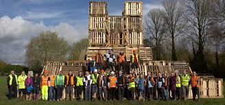 winchester fireworks team in front of bonfire