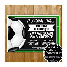 Soccer Party Invite Soccer Party Invitation Printable Digital Download Birthday Party Invite
