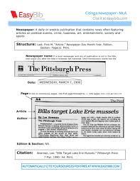 Newspaper Mla Citation 25 Views