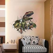 universal 3d wall sticker jurassic world dinosaur through home kids bedroom decor childen