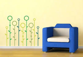 abstract wall decals india grassland abstract wall decal modern fl wall decor