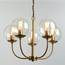 globe light chandelier antique brass and glass globe 5 light chandelier world market inside designs 2